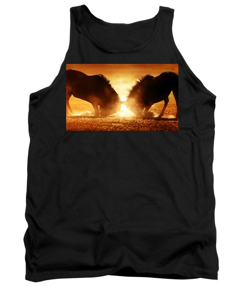 Blue Wildebeest Dual In Dust Tank Top