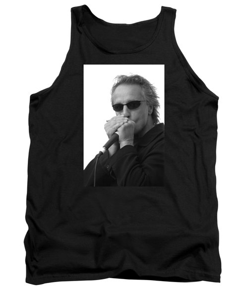 Bluesman James Montgomery Tank Top by Mike Martin