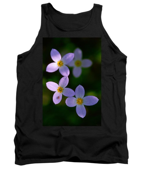 Tank Top featuring the photograph Bluets With Aphid by Marty Saccone