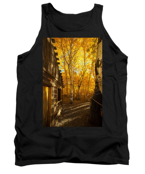 Boat House Among The Autumn Leaves  Tank Top by Jerry Cowart