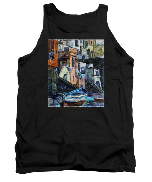 Boats In Front Of The Buildings I  Tank Top by Xueling Zou