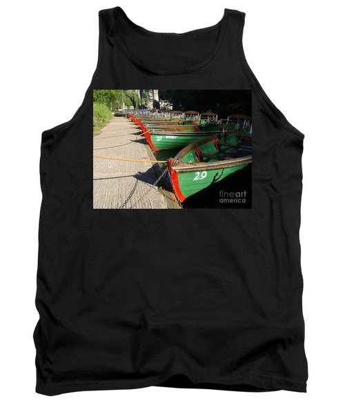 Tank Top featuring the photograph Boats Waiting For Kids by Doc Braham