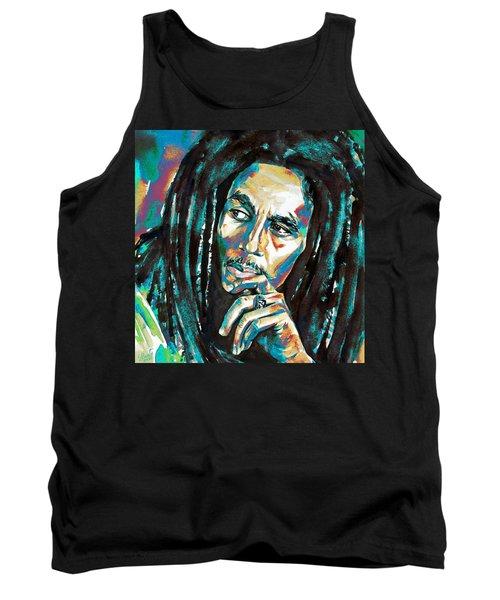 Bob Marley Watercolor Portrait.7 Tank Top