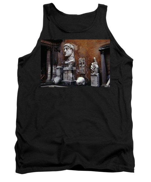 Body Parts The Colossus Of Constantine Rome Tank Top by Tom Wurl