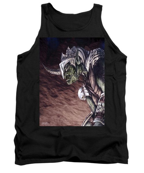 Tank Top featuring the mixed media Bolg The Goblin King 2 by Curtiss Shaffer