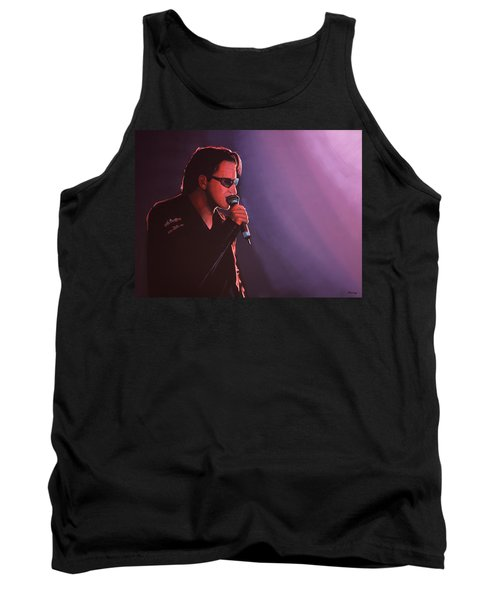 Bono U2 Tank Top by Paul Meijering