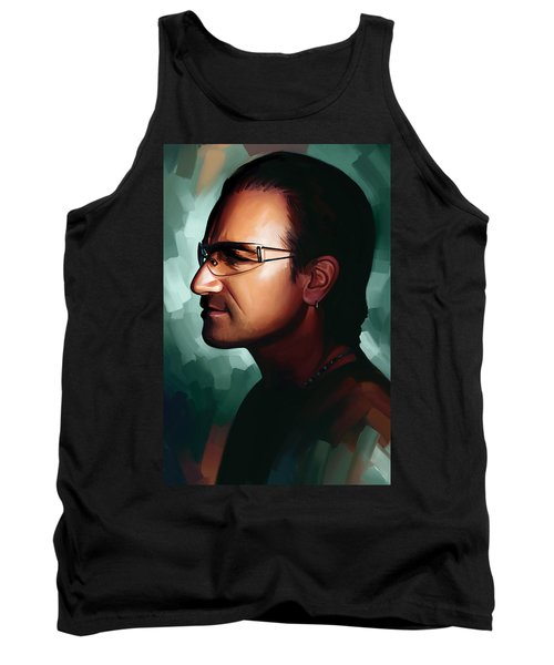 Bono U2 Artwork 1 Tank Top by Sheraz A