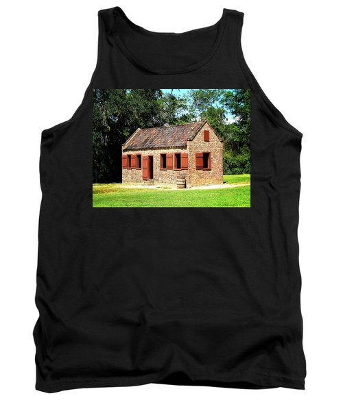 Tank Top featuring the photograph Boone Hall Plantation Slave Quarters by Greg Simmons