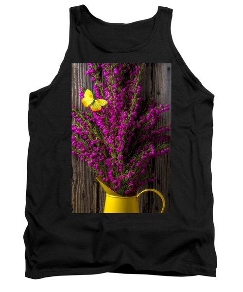 Boronia With Yellow Butterfly Tank Top