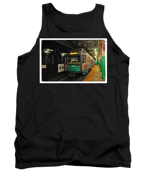 Boston's Mbta Green Line Tank Top by Mike Martin