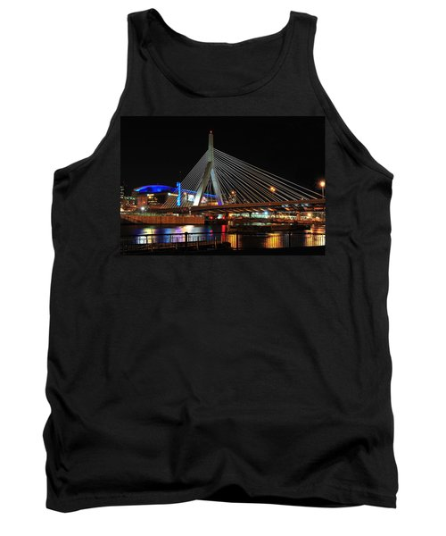 Tank Top featuring the photograph Boston's Zakim-bunker Hill Bridge by Mitchell R Grosky