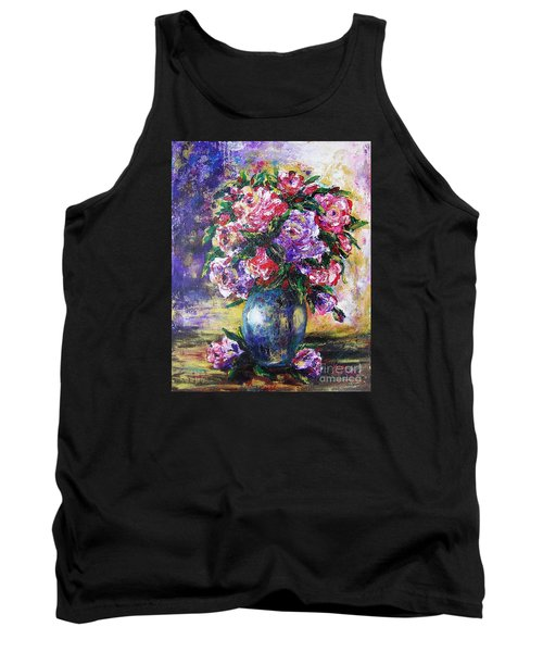 Tank Top featuring the painting Bouquet Of Scents by Vesna Martinjak