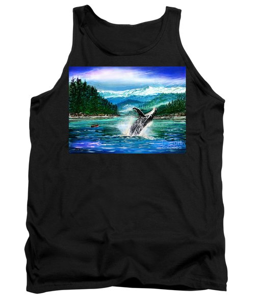 Breaching Humpback Whale Tank Top by Patricia L Davidson