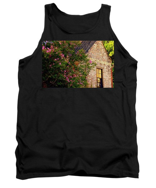 Tank Top featuring the photograph Brick And Myrtle by Rodney Lee Williams