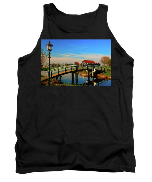 Tank Top featuring the photograph Bridge Over Calm Waters by Jonah  Anderson