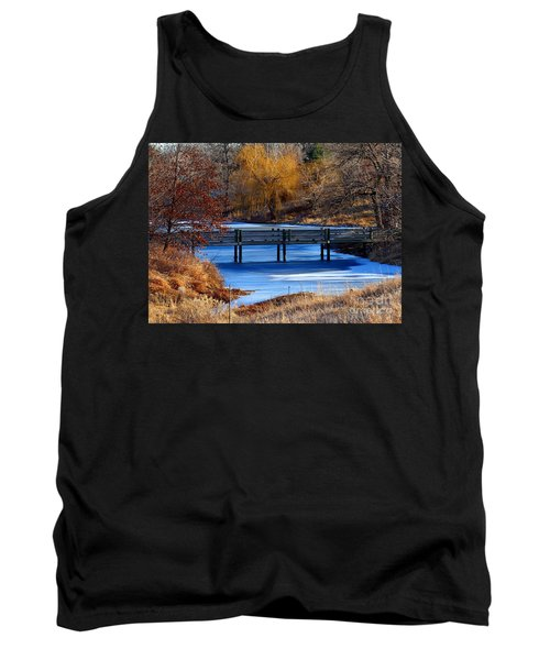Tank Top featuring the photograph Bridge Over Icy Waters by Elizabeth Winter
