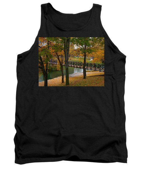 Tank Top featuring the photograph Bridge To Fall by Elizabeth Winter
