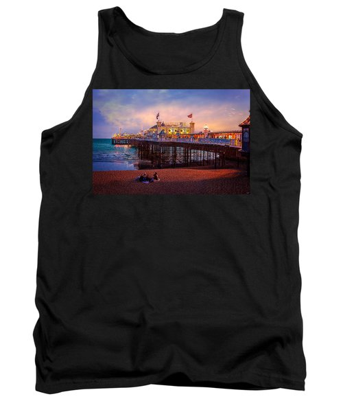 Tank Top featuring the photograph Brighton's Palace Pier At Dusk by Chris Lord