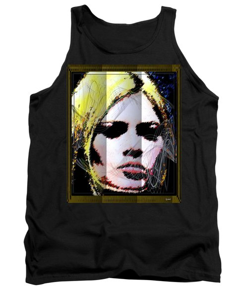 Tank Top featuring the digital art Brigitte Bardot by Daniel Janda