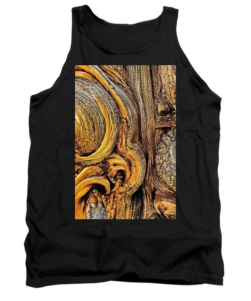 Tank Top featuring the photograph Bristlecone Pine Bark Detail White Mountains Ca by Dave Welling