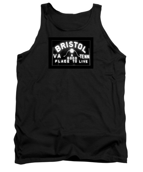 Bristol Virginia Tennesse Slogan Sign Tank Top