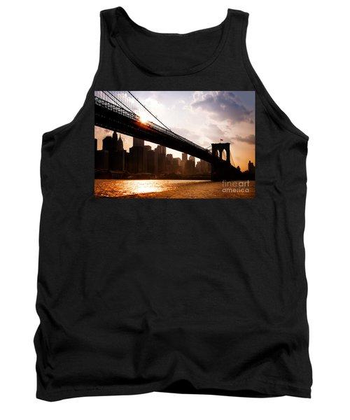 Brooklyn Bridge And Skyline Manhattan New York City Tank Top