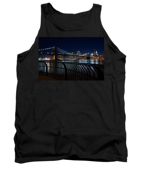 Brooklyn Bridge At Night Tank Top