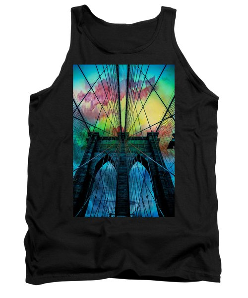 Psychedelic Skies Tank Top by Az Jackson