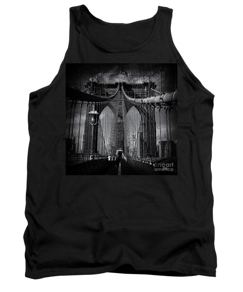 Brooklyn Bridge Up Close New York City Tank Top by Sabine Jacobs