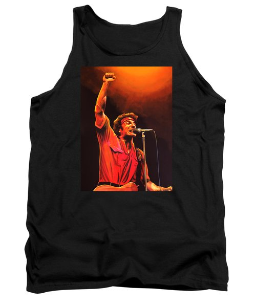 Bruce Springsteen Painting Tank Top by Paul Meijering