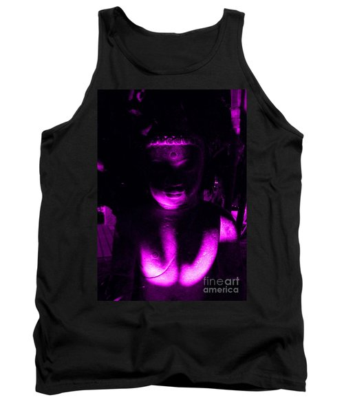 Buddha Reflecting Purple Tank Top