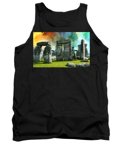 Building A Mystery - Stonehenge Art By Sharon Cummings Tank Top