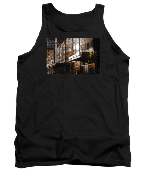 Building With Shimmering Circles Tank Top by Don Gradner