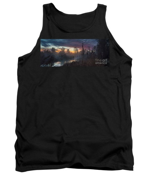 Bulrush Sunrise Full Scene Tank Top