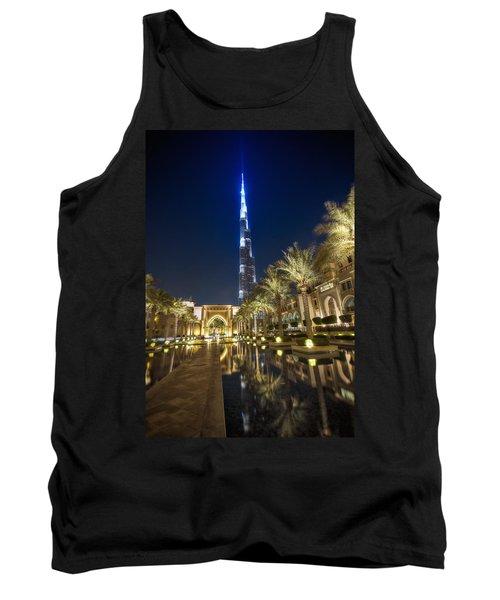 Burj Khalifa Swoard Tank Top by John Swartz