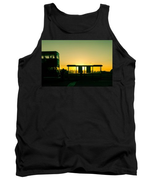 Bus Stop At Sunset Tank Top