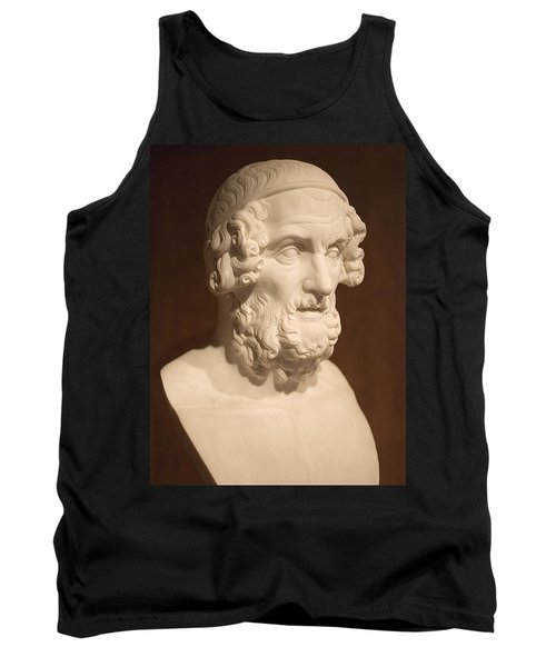 Tank Top featuring the photograph Bust Of Homer by Mark Greenberg