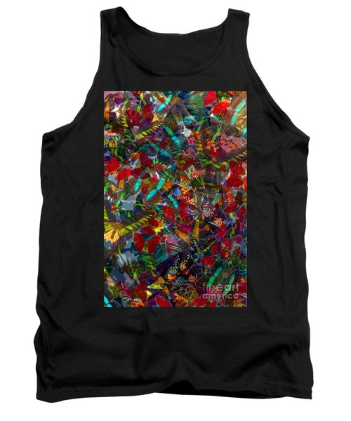 Tank Top featuring the photograph Butterfly Collage Red by Robert Meanor
