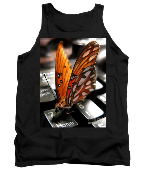 Tank Top featuring the photograph Butterfly Home At 7 by Jennie Breeze