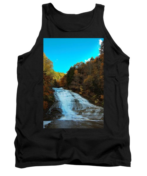 Tank Top featuring the photograph Buttermilk Falls Ithaca New York by Paul Ge