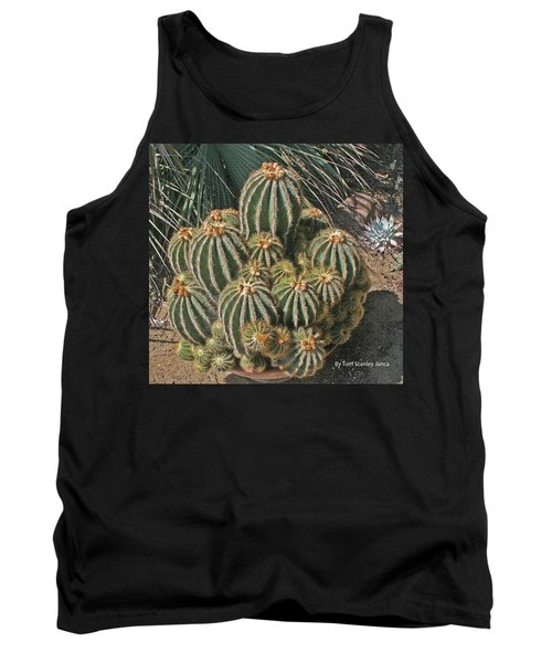 Tank Top featuring the photograph Cactus In The Garden by Tom Janca