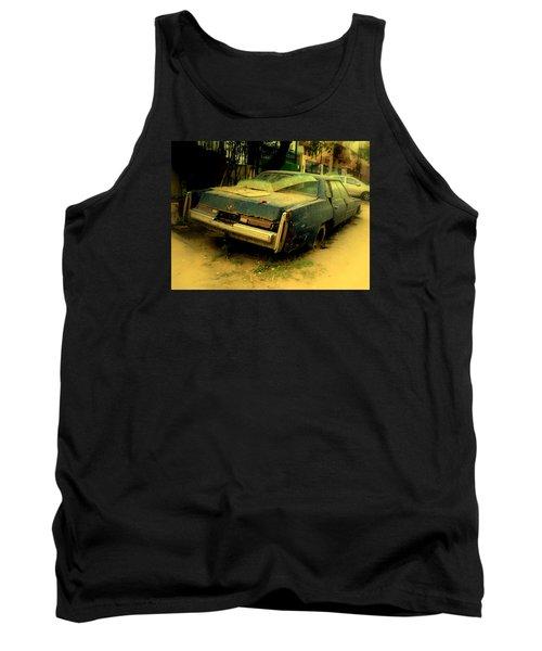 Tank Top featuring the photograph Cadillac Wreck by Salman Ravish