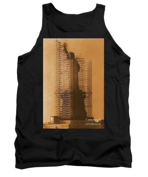 New York Lady Liberty Statue Of Liberty Caged Freedom Tank Top by Michael Hoard