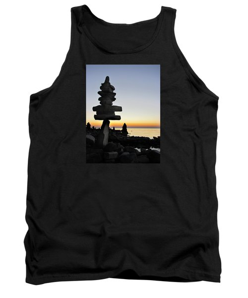 Cairns At Sunset At Door Bluff Headlands Tank Top by David T Wilkinson