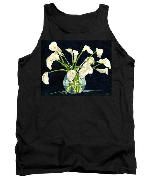 Calla Lilies In Vase Tank Top