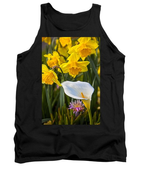 Calla Lily And Doffodils Tank Top