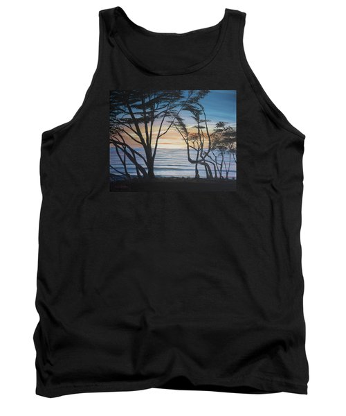 Cambria Cypress Trees At Sunset Tank Top