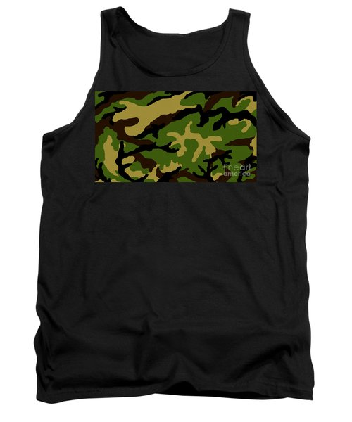 Tank Top featuring the painting Camouflage Military Tribute by Roz Abellera Art