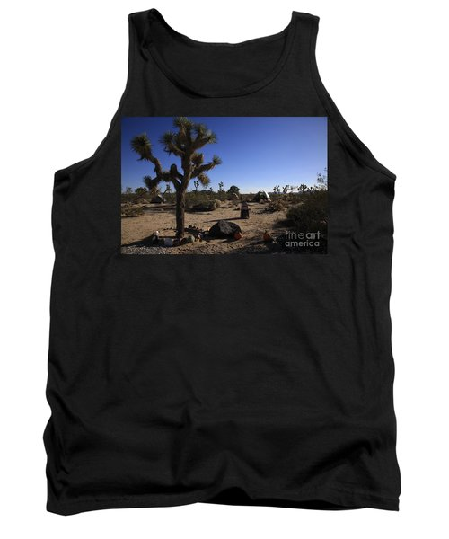 Camping In The Desert Tank Top