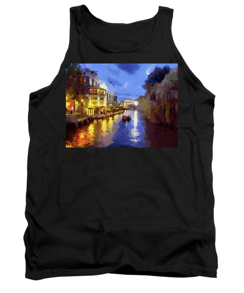 Water Canals Of Amsterdam Tank Top